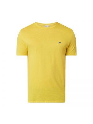 Żółty t-shirt bawełniany Lacoste