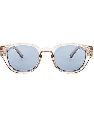 Złote niebieskie okulary Le Specs Luxe
