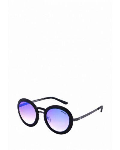 Солнцезащитные очки голубой круглые Exenza