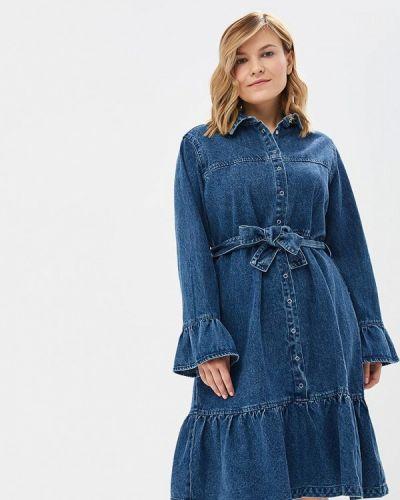 Джинсовое платье индийский осеннее Lost Ink Plus