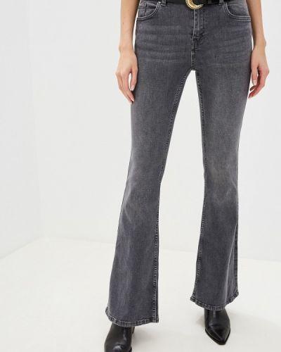 Широкие джинсы расклешенные серые Mango