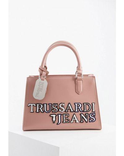 Джинсы mom розовый Trussardi Jeans