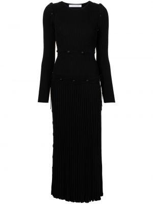 Платье макси с длинными рукавами - черное Christopher Esber