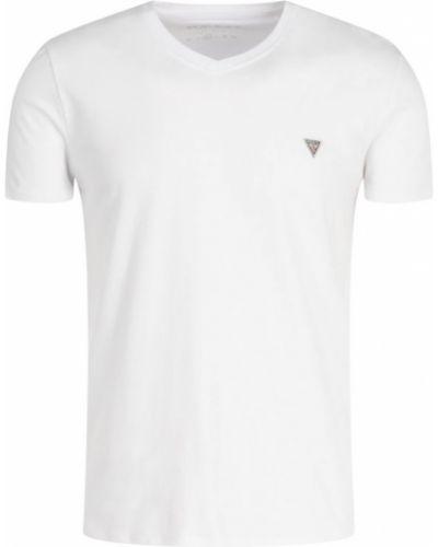 Biała koszula jeansowa bawełniana Guess