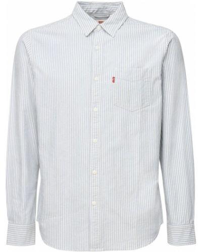 Biała koszula bawełniana w paski Levi's Red Tab