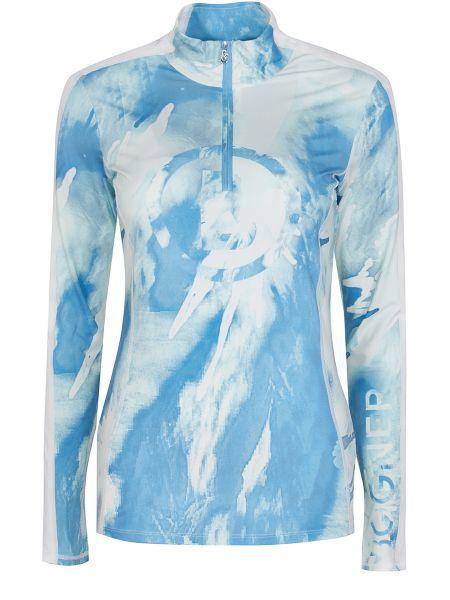Белая футбольная спортивная футболка на молнии с воротником Bogner
