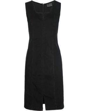 Облегающее платье черное Bonprix