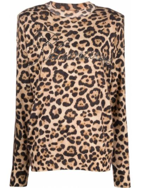 Шерстяной свитер - коричневый Blumarine
