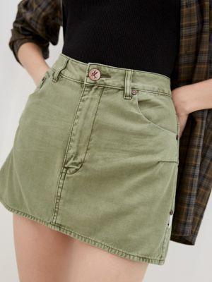 Прямая юбка - зеленая One Teaspoon