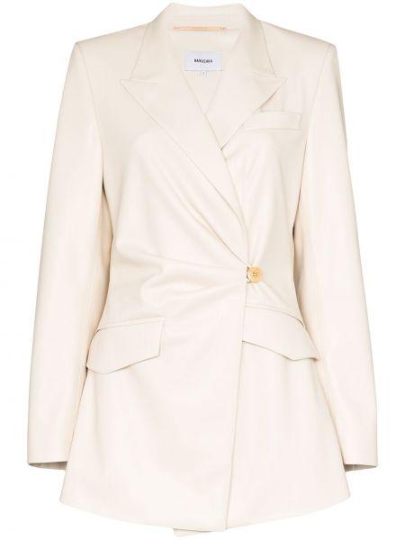 Белый пиджак с карманами на пуговицах Nanushka