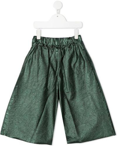 Брючные зеленые брюки свободного кроя с карманами Wolf & Rita