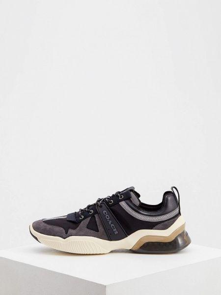 Текстильные черные кроссовки Coach