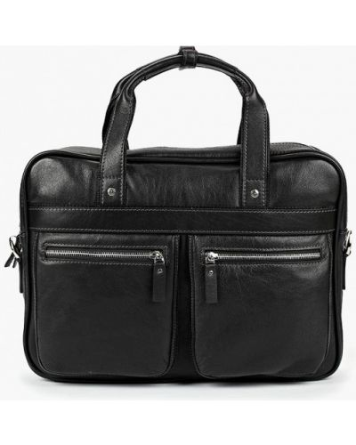 Черная кожаная сумка Olio Rosti