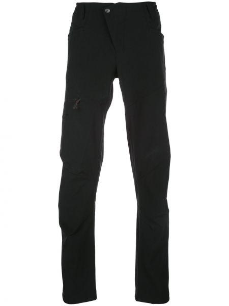 Черные прямые брюки с поясом новогодние для беременных Klättermusen