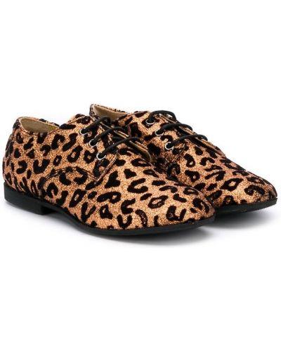 Туфли на каблуке бежевые Gallucci Kids