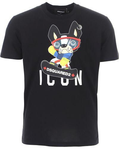 Czarna włoska t-shirt Dsquared