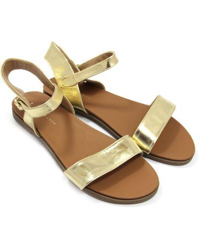 Кожаные сандалии - золотые New Look