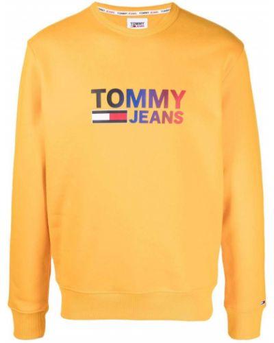 Оранжевая кофта с принтом Tommy Hilfiger