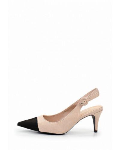 Туфли на каблуке с открытой пяткой бежевый Coco Perla