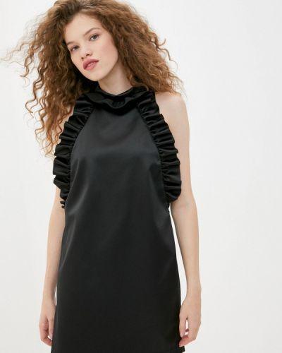 Черное вечернее платье Sisley