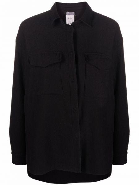 Черная рубашка классическая Kristensen Du Nord