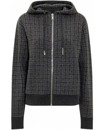 Z kaszmiru sweter - szary Givenchy
