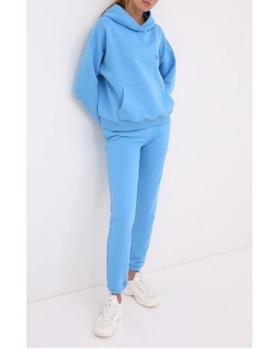 Хлопковый синий костюмный костюм Seven Lab