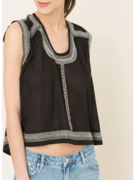 Блузка прямая с вышивкой Antik Batik