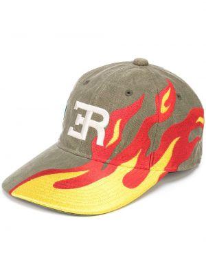 Żółta czapka bawełniana z haftem Readymade