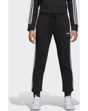 Спортивные черные зауженные спортивные брюки с нашивками Adidas