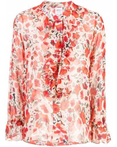 Рубашка с длинным рукавом с принтом с оборками Misa Los Angeles