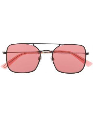 Солнцезащитные очки квадратные металлические хаки Diesel