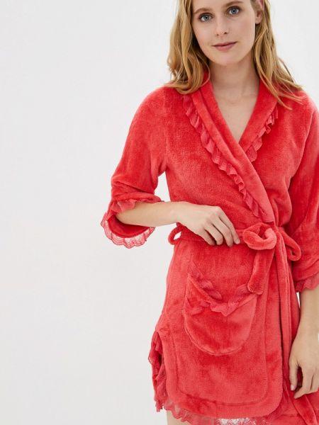 Домашний халат - красный Lelio