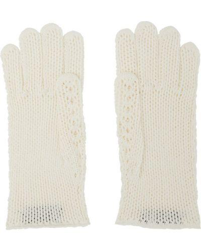 Bawełna bawełna otwarty biały rękawiczki Gucci