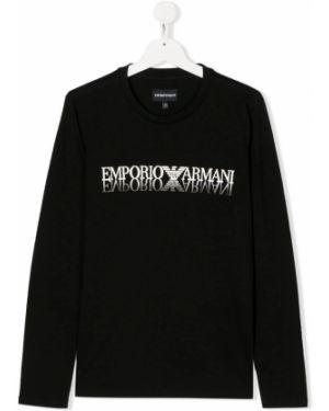 Рубашка черная на шею Emporio Armani Kids