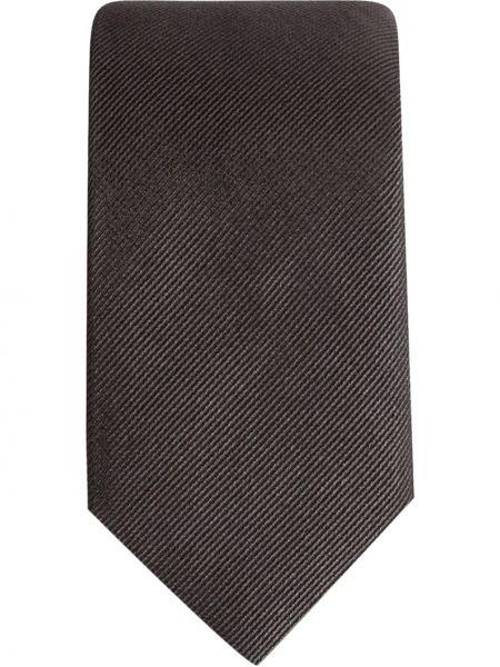 Шелковый серый галстук Dolce & Gabbana