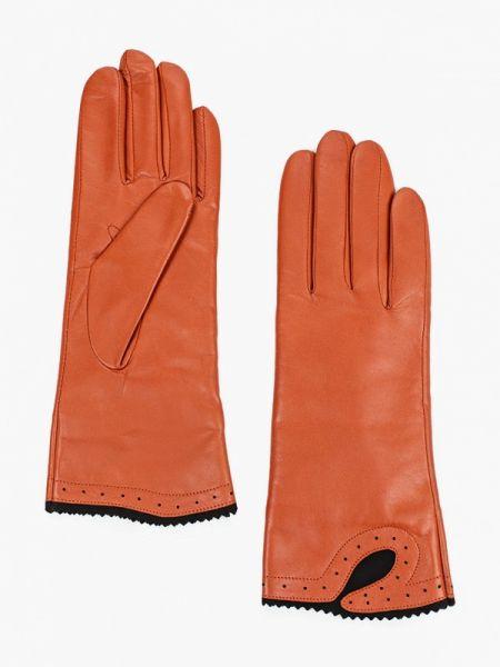 Оранжевые кожаные перчатки Esmee
