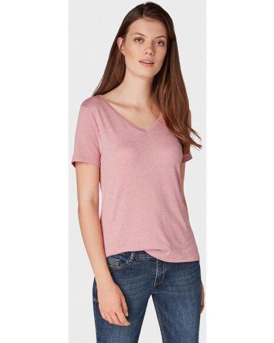 Розовая футболка индийская Tom Tailor Denim