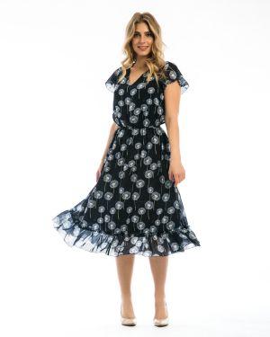 Летнее платье с V-образным вырезом с поясом Modellos