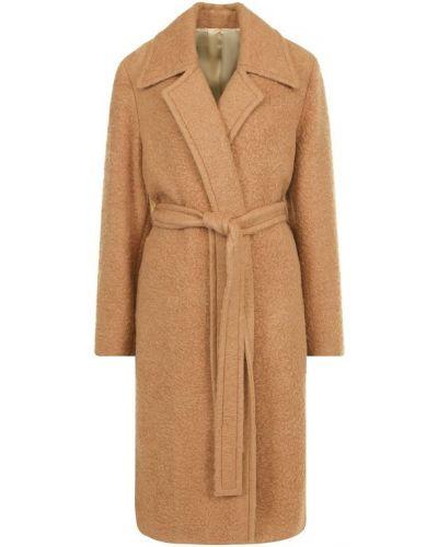 Пальто с поясом шерстяное Helmut Lang