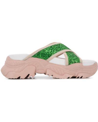 Сандалии зеленый плоский N21