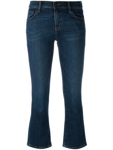 Расклешенные укороченные джинсы с поясом на пуговицах J Brand