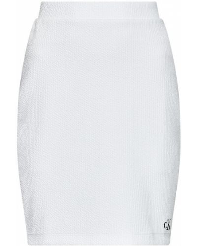 Biała spódnica ołówkowa Calvin Klein Jeans