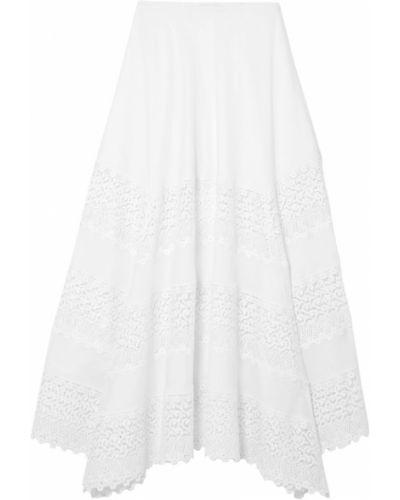 Кружевная юбка миди - белая Charo Ruiz Ibiza