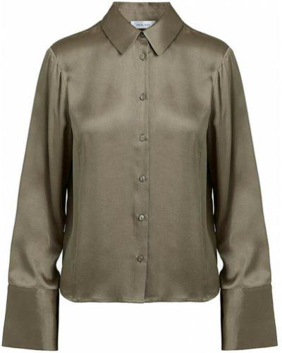 Zielona bluzka prążkowana Anine Bing
