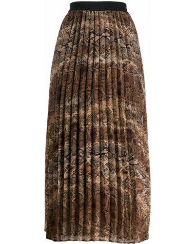 Плиссированная юбка коричневый пачка Liu Jo