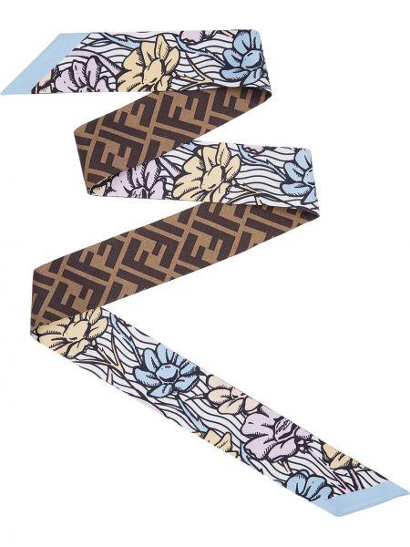 Шелковая бандана с логотипом Fendi