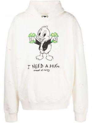 Biały sweter bawełniany Domrebel