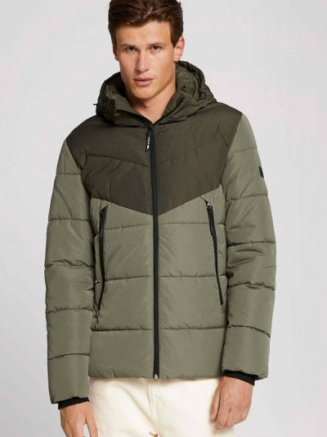 Джинсовая куртка короткая - хаки Tom Tailor Denim