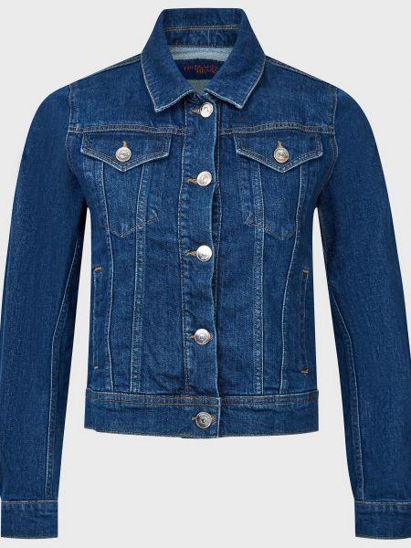 Куртка на пуговицах - синяя Trussardi Jeans